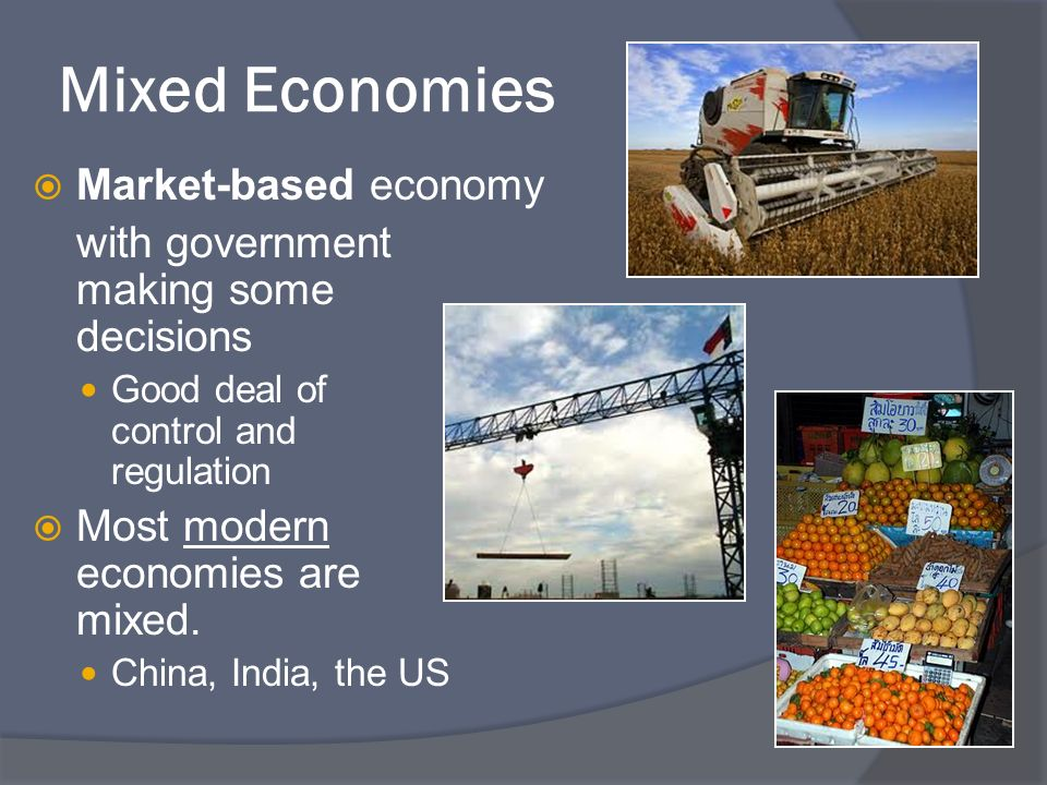 Mixed Economies Market-based economy