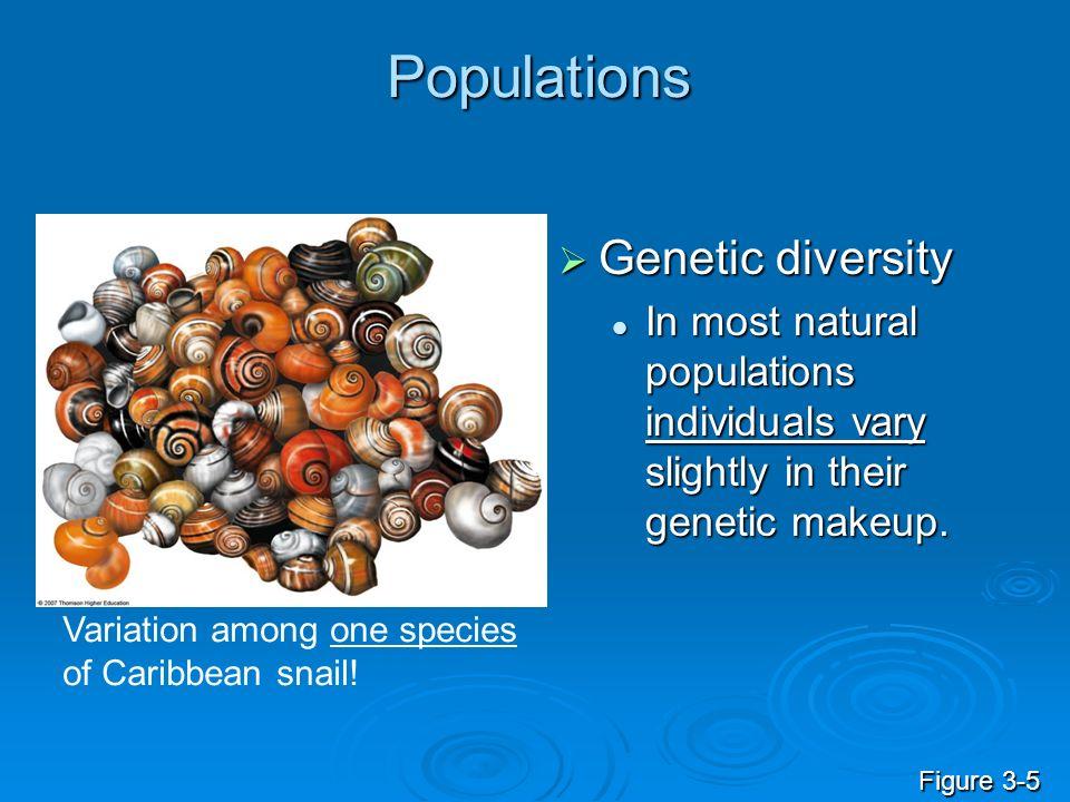 Populations Genetic diversity