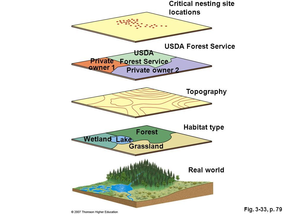 USDA Forest Service Private owner 1 Habitat type