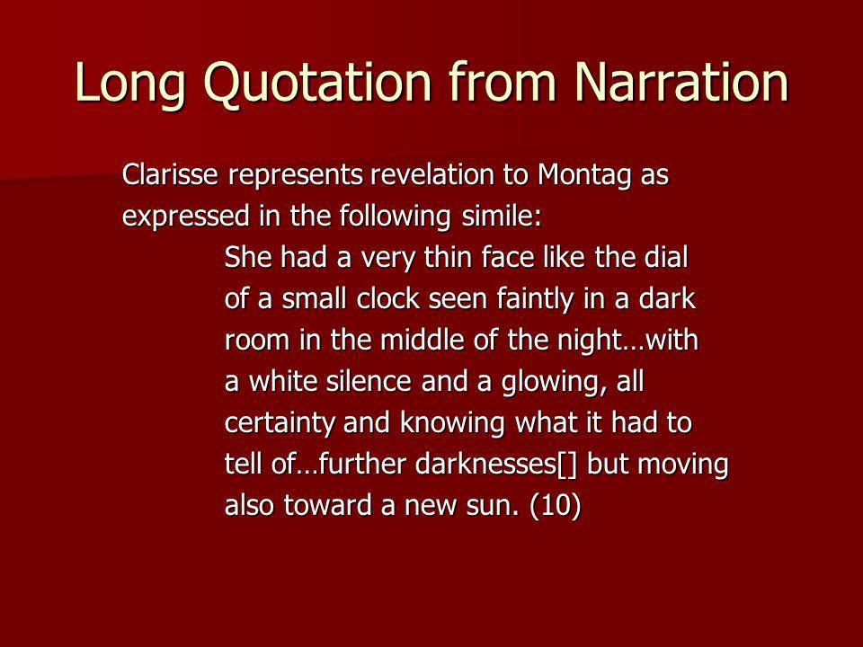 Long Quotation from Narration