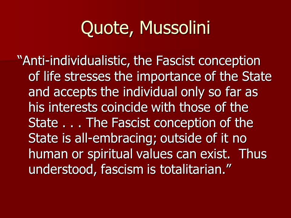 Quote, Mussolini