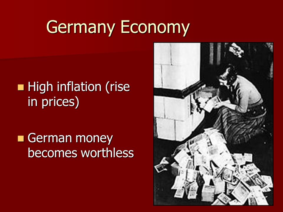 Germany Economy High inflation (rise in prices)