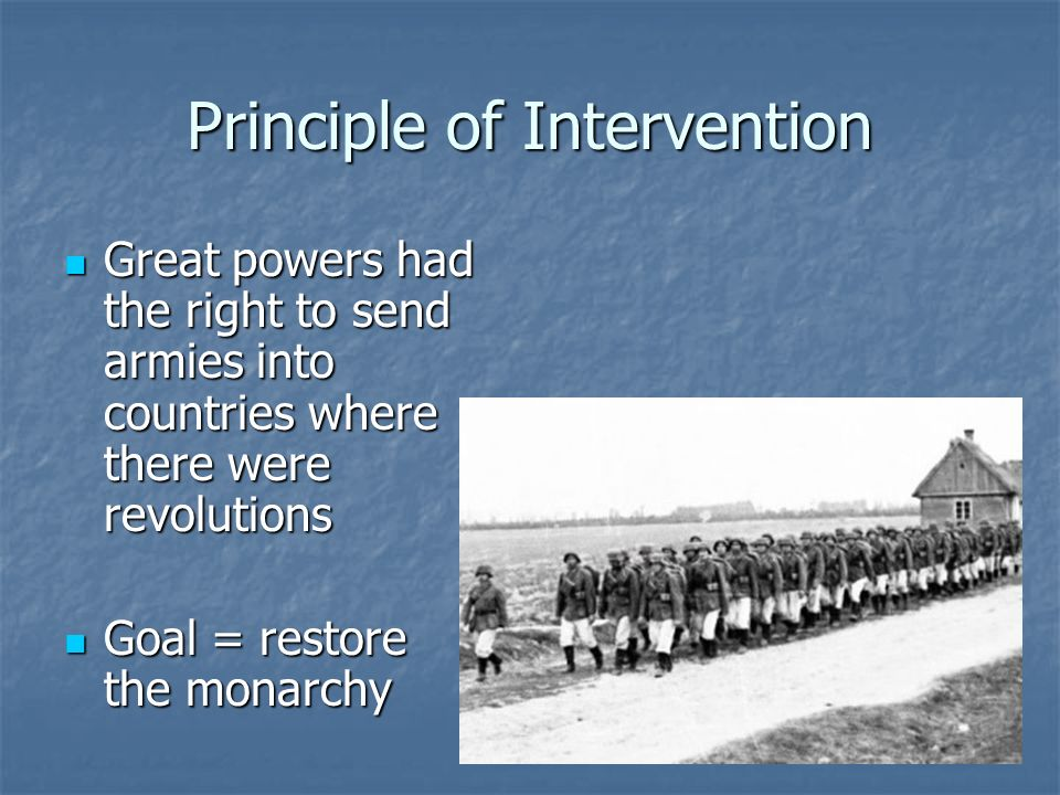 Principle of Intervention