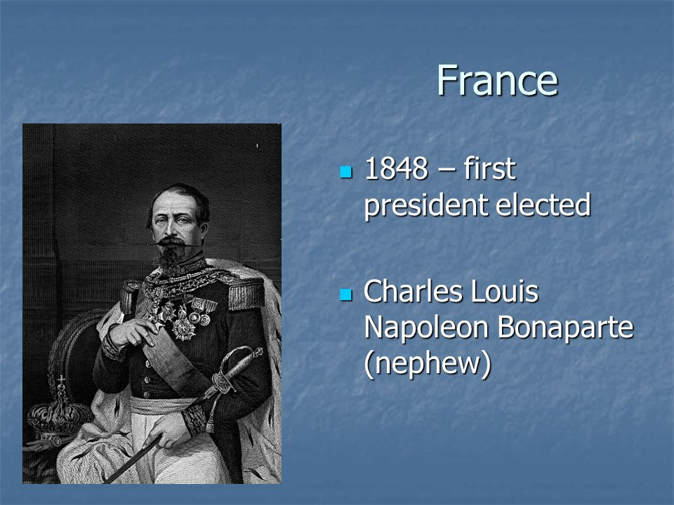 France 1848 – first president elected