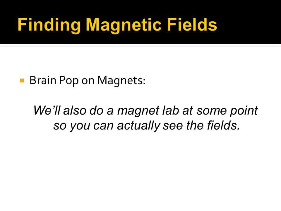 Finding Magnetic Fields