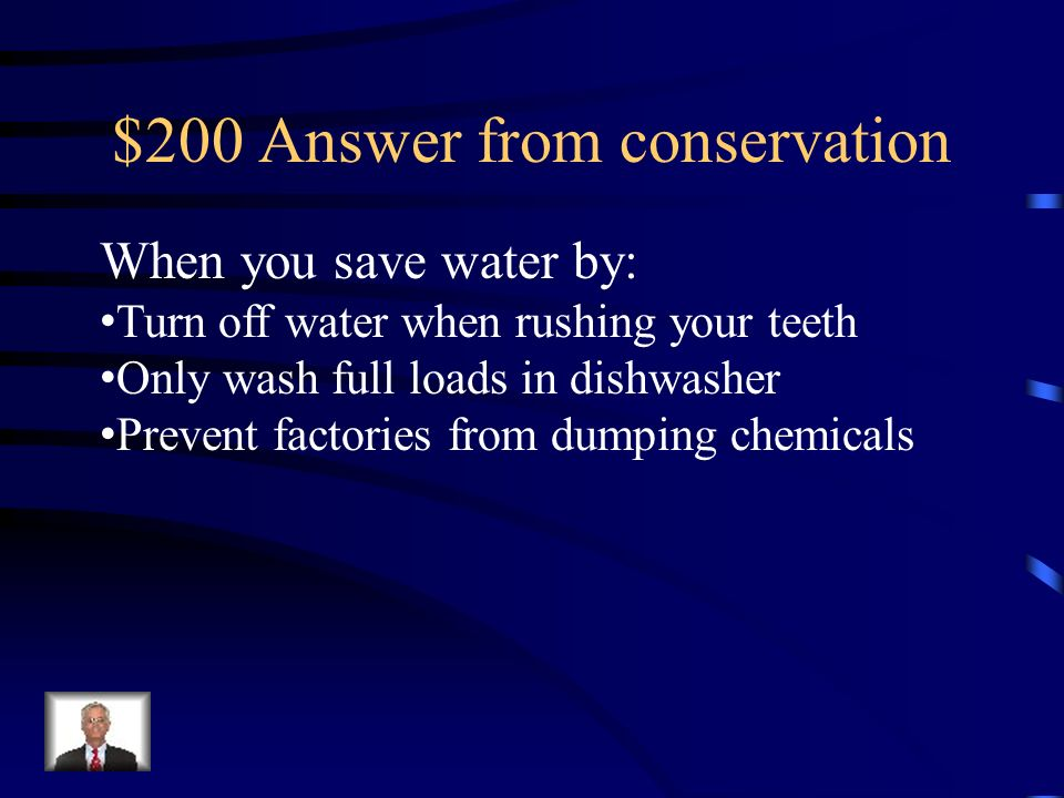 $200 Answer from conservation