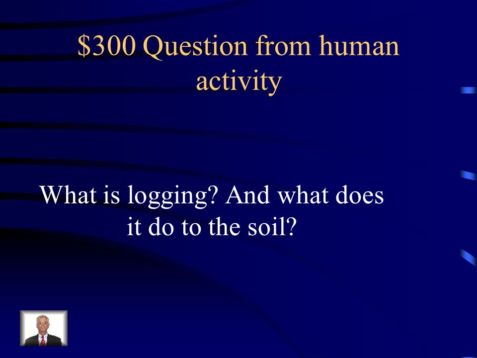 $300 Question from human activity