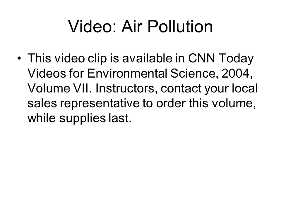 Video: Air Pollution