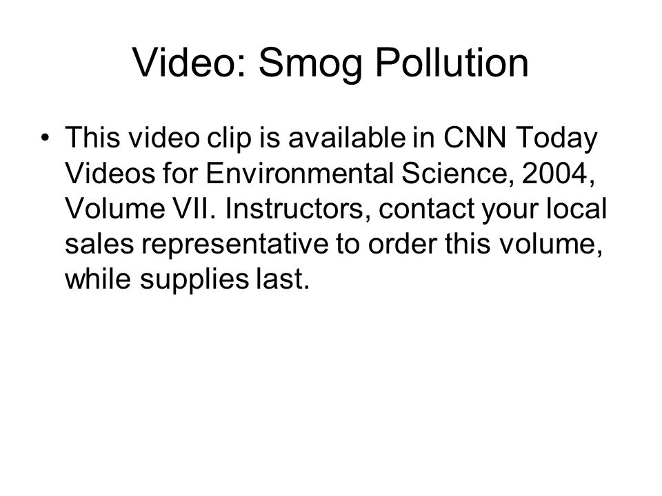 Video: Smog Pollution