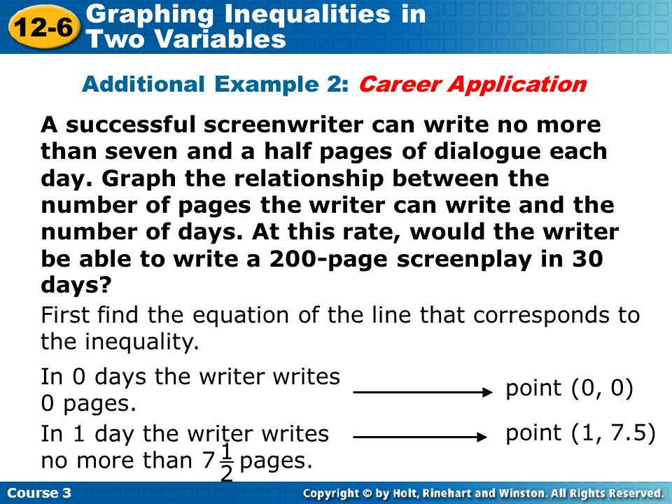 Additional Example 2: Career Application