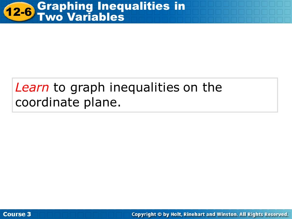 Learn to graph inequalities on the coordinate plane.