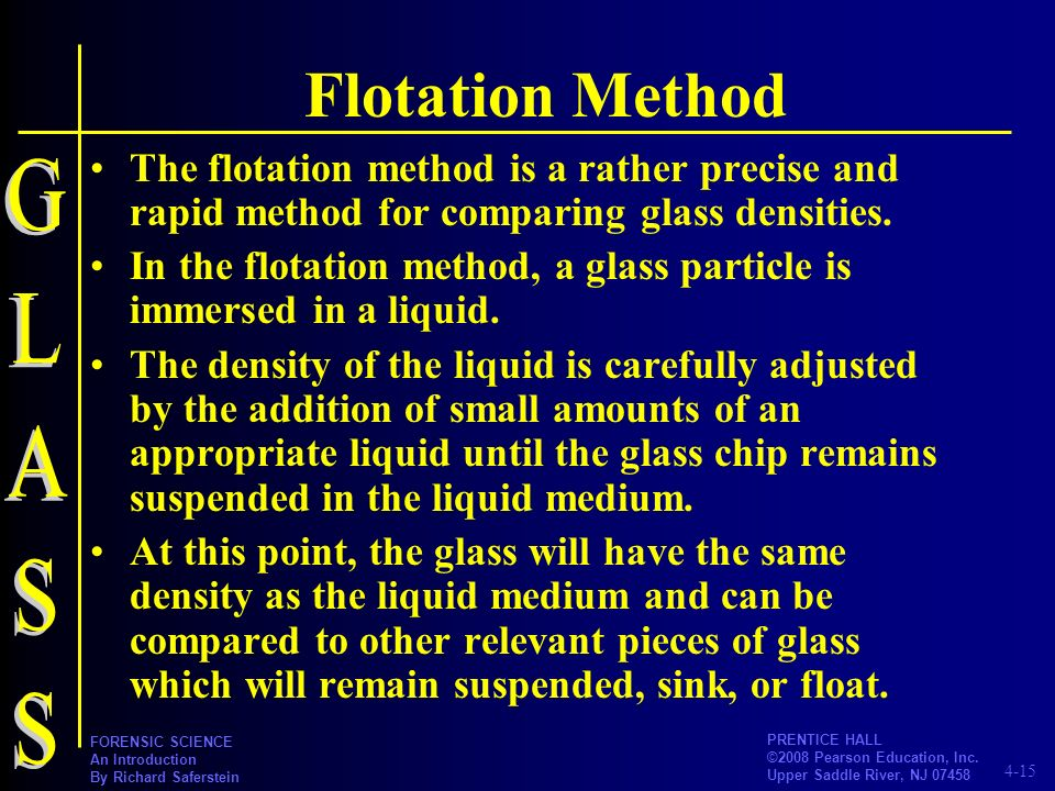 Flotation Method GLASS