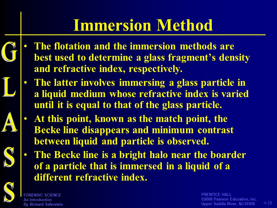 Immersion Method GLASS