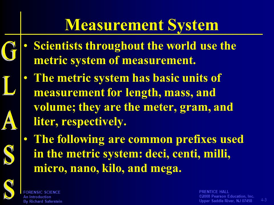 Measurement System GLASS