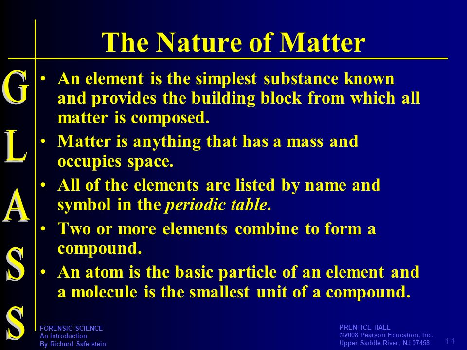 The Nature of Matter GLASS