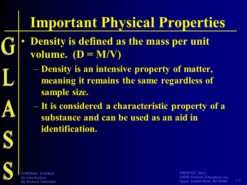 Important Physical Properties