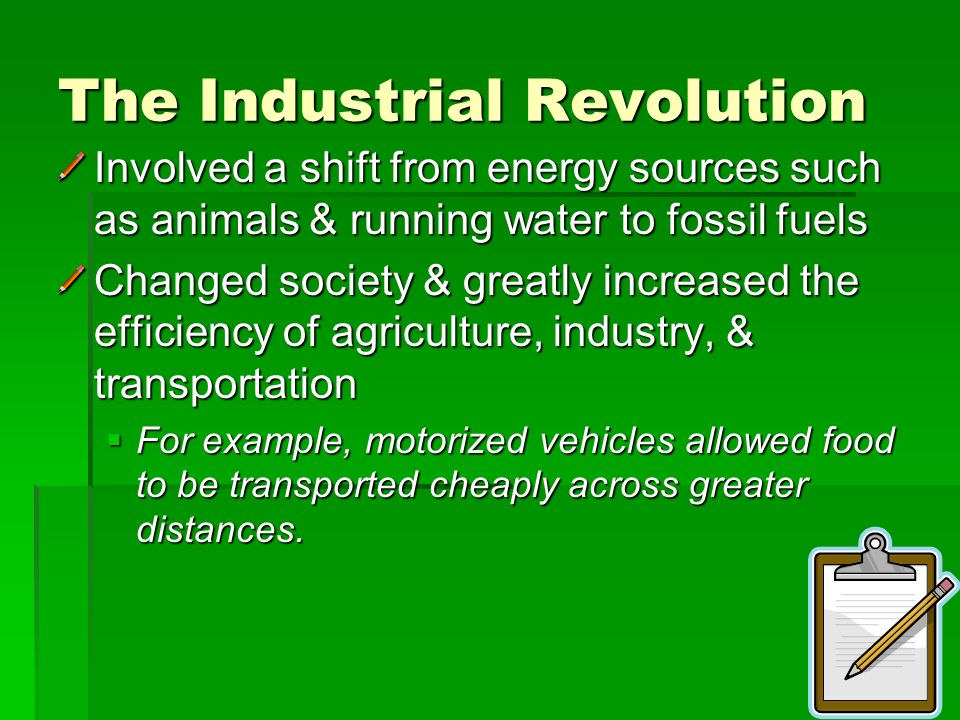 fossil fuel and industrial revolution Why did it take so long for humans to utilise fossil fuels the industrial revolution marked the the beginning of the major use of fossil fuels as our primary.