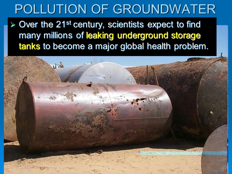 POLLUTION OF GROUNDWATER