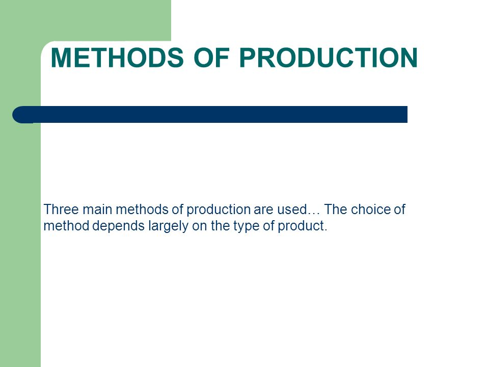 choice of production methods essay Largest free essays database: over 180,000 essays, term papers, research paper, book reports 183,565 essays, term and research papers available for unlimited access.