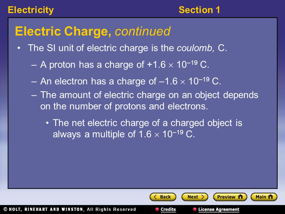 Electric Charge, continued