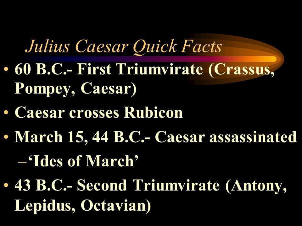 Julius Caesar Quick Facts