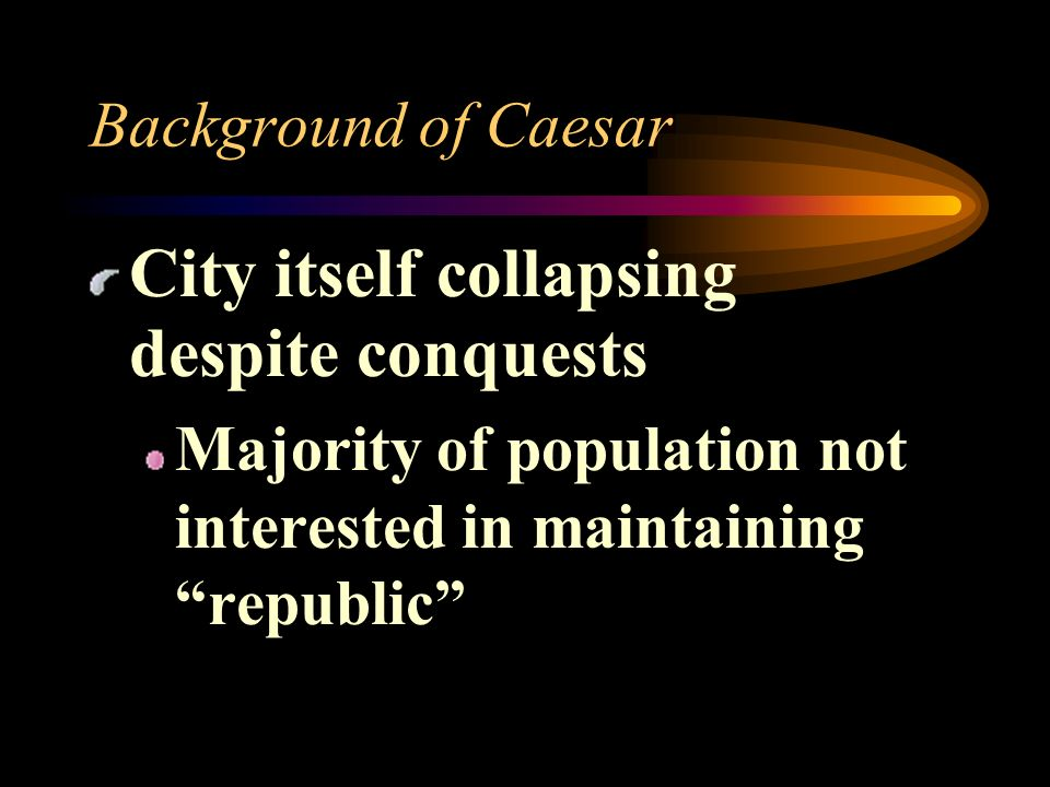 City itself collapsing despite conquests