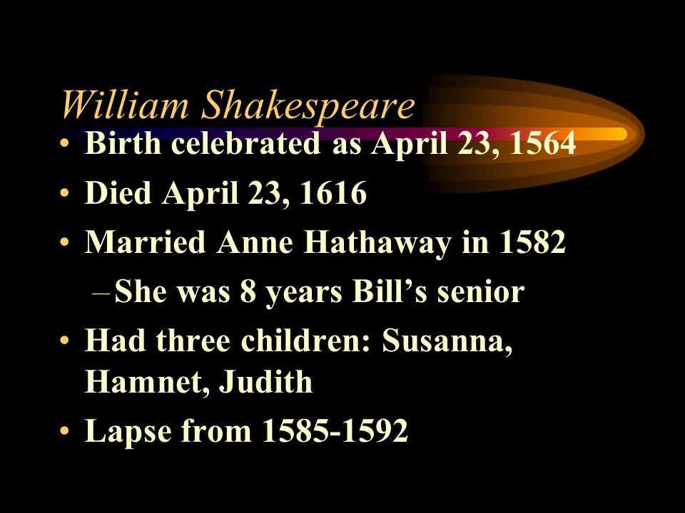 William Shakespeare Birth celebrated as April 23, 1564