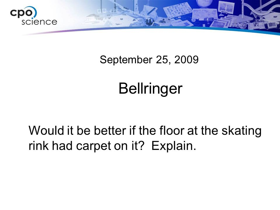 September 25, 2009 Bellringer.