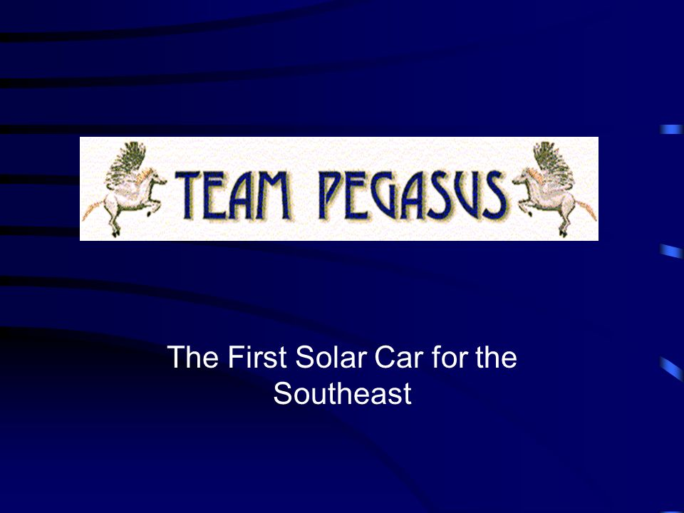 The First Solar Car for the Southeast