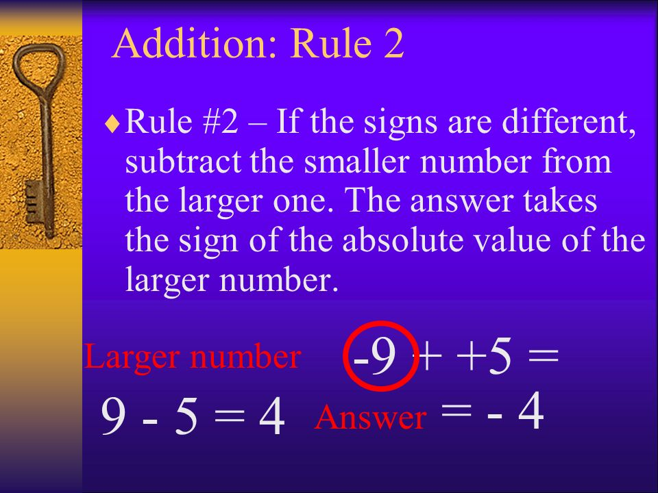 Addition: Rule 2