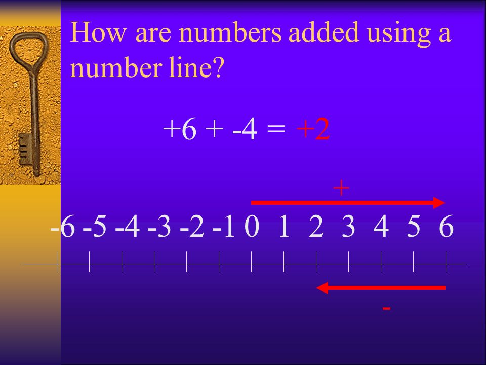 How are numbers added using a number line