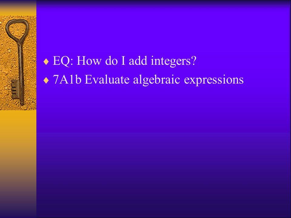 EQ: How do I add integers
