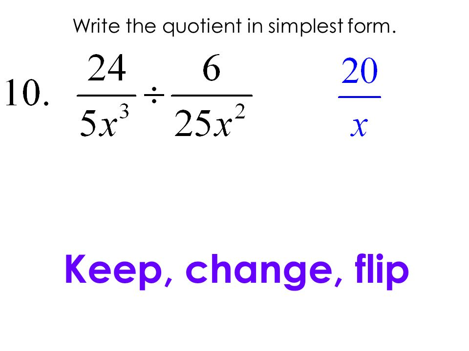 Write the quotient in simplest form.