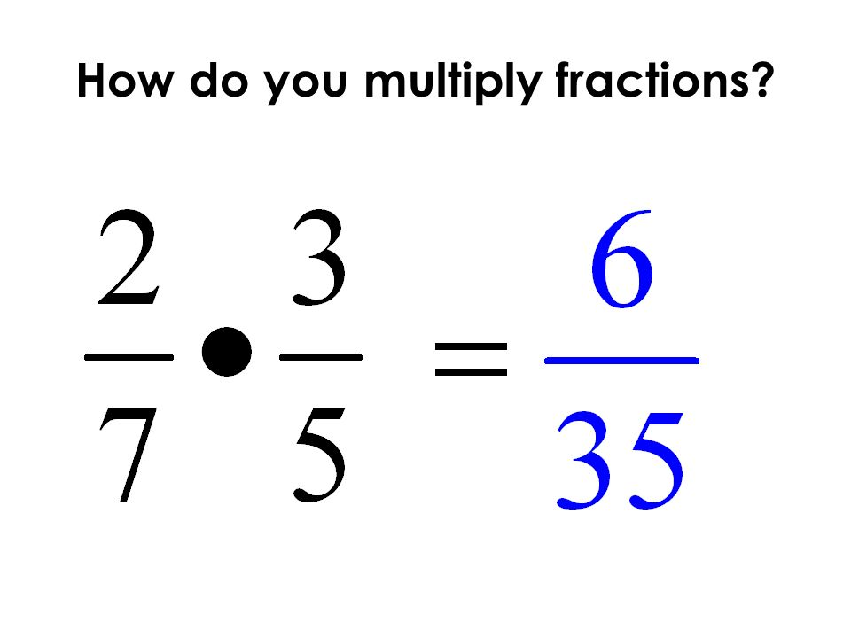 How do you multiply fractions