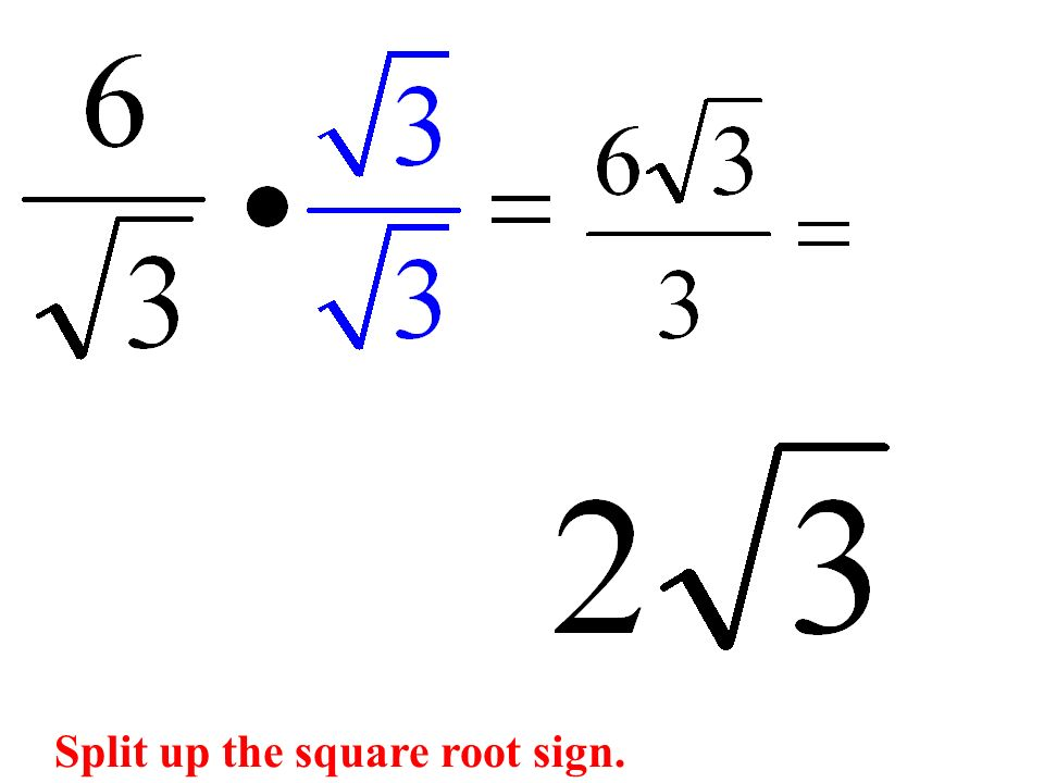 Split up the square root sign.