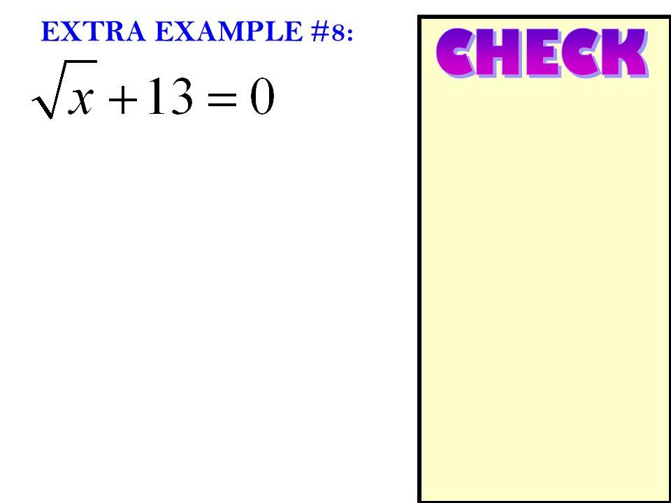EXTRA EXAMPLE #8: CHECK