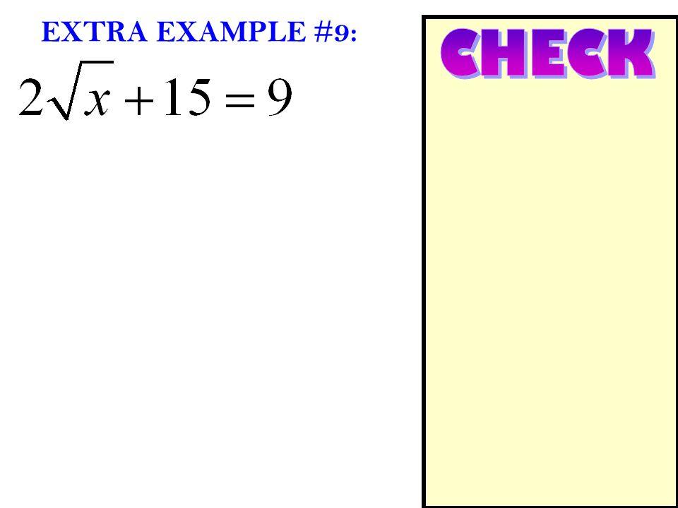 EXTRA EXAMPLE #9: CHECK