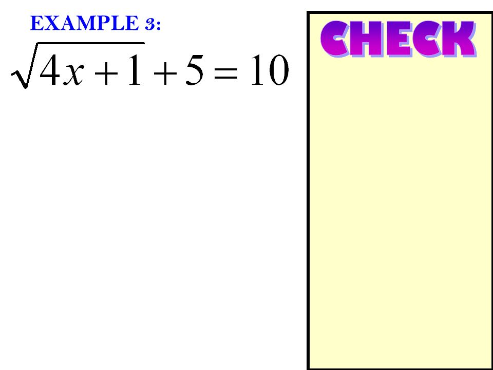 EXAMPLE 3: CHECK