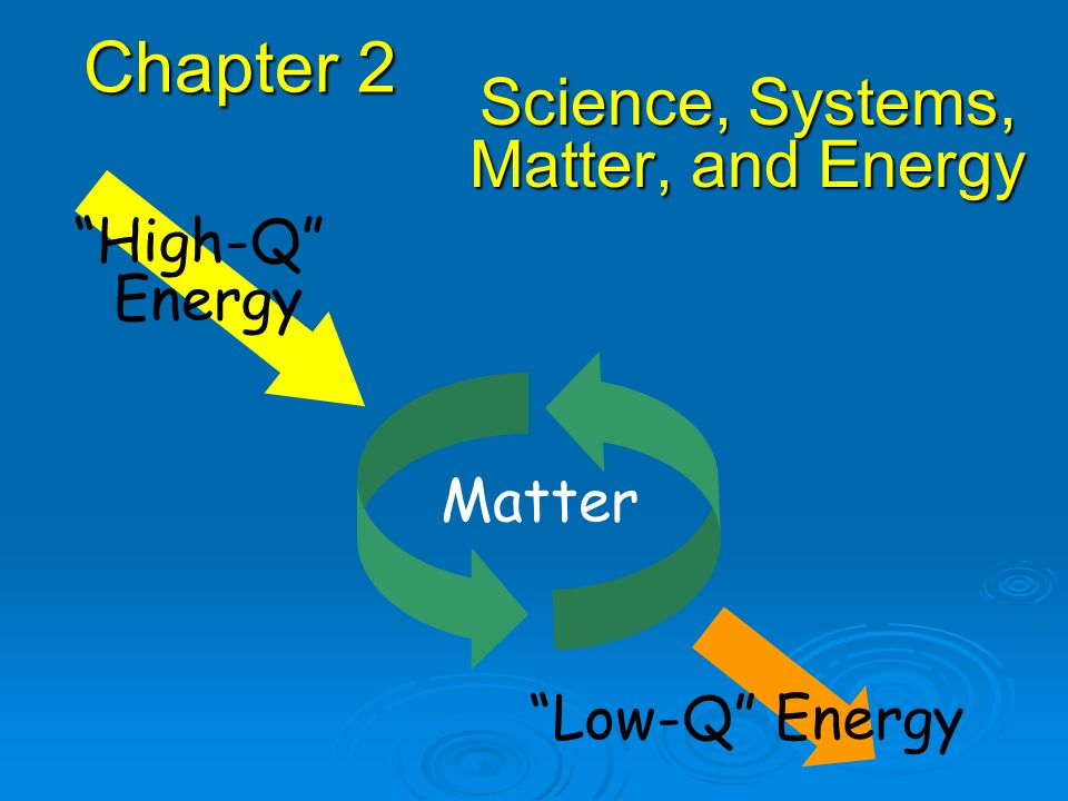 Science, Systems, Matter, and Energy