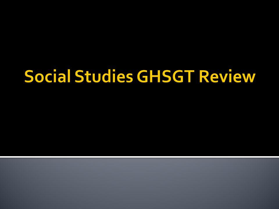 Social Studies GHSGT Review