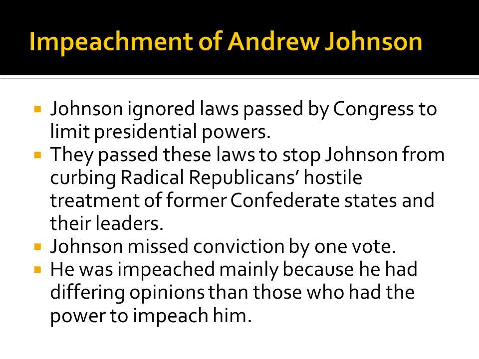 Impeachment of Andrew Johnson