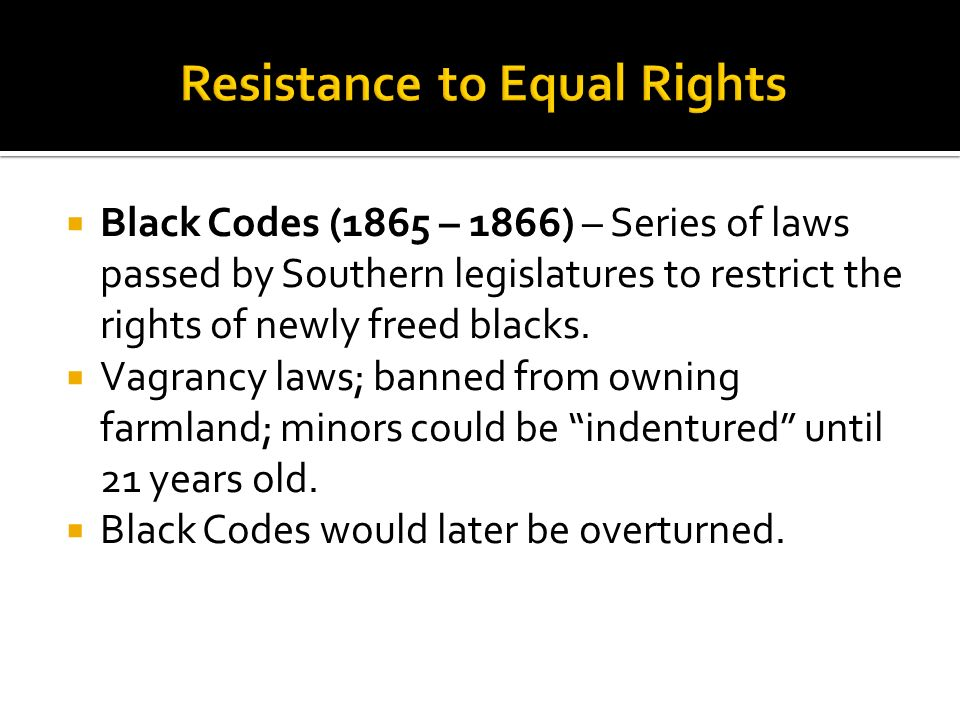 Resistance to Equal Rights