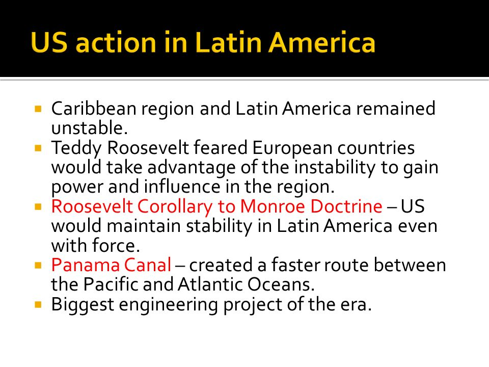 US action in Latin America