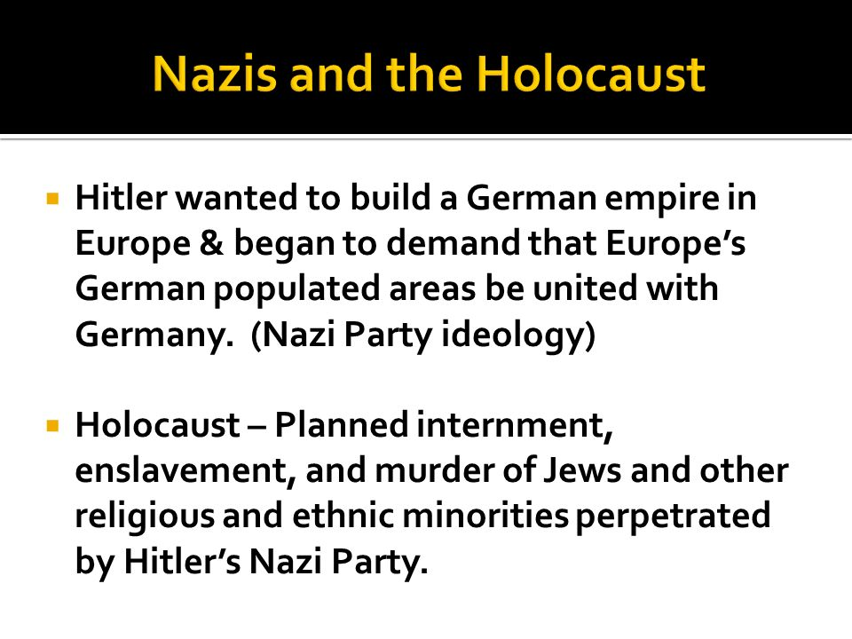 Nazis and the Holocaust