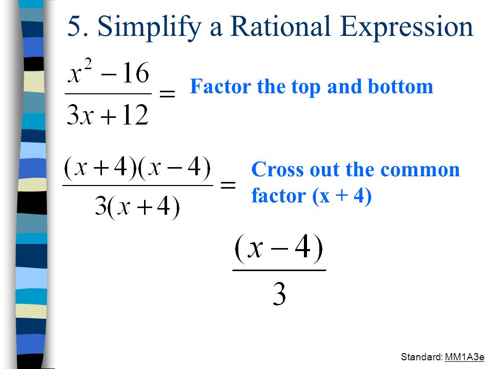 5. Simplify a Rational Expression