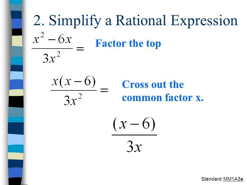 2. Simplify a Rational Expression