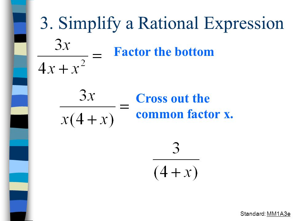 3. Simplify a Rational Expression
