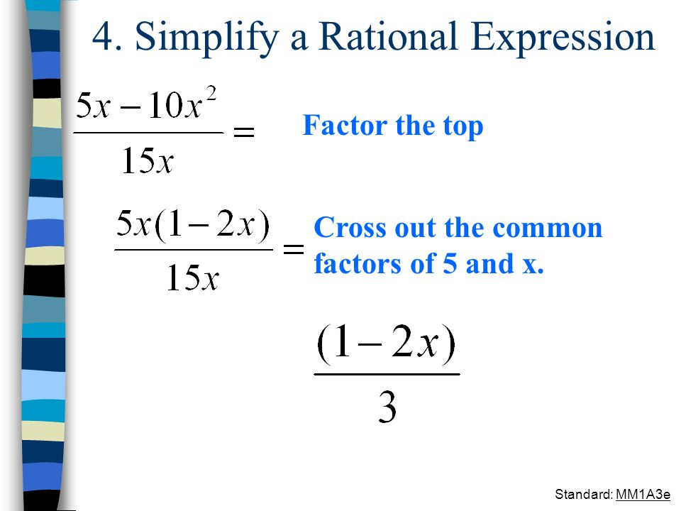 4. Simplify a Rational Expression