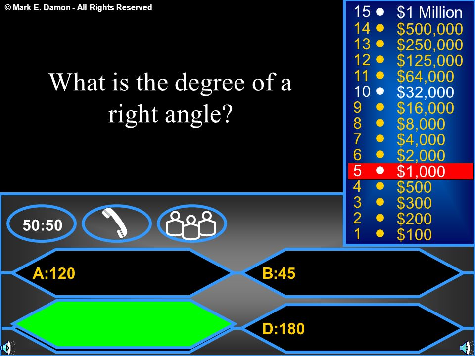 What is the degree of a right angle
