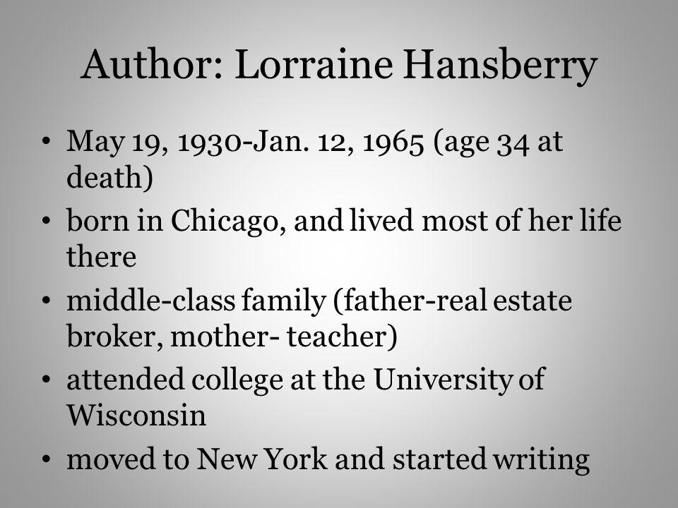 Author: Lorraine Hansberry